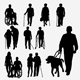 Disabilities and Elderly Silhouettes - GraphicRiver Item for Sale