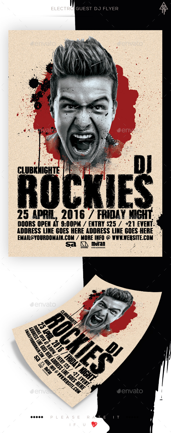 Electro Guest Dj Flyer - Clubs & Parties Events