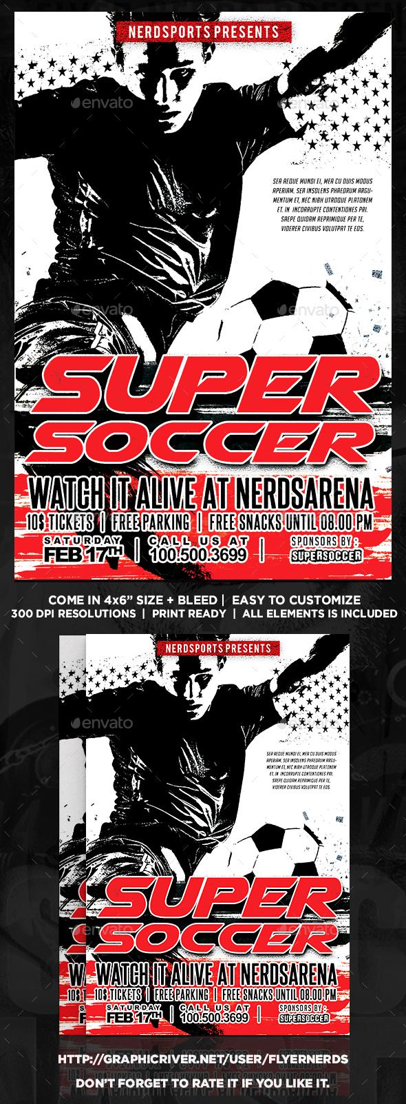 Soccer Match Sports Flyer - Sports Events