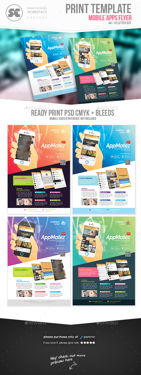Mobile Apps Flyer - Corporate Flyers