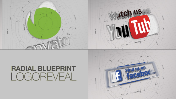 Radial blueprint logoreveal by transmaxx videohive play preview video malvernweather Gallery