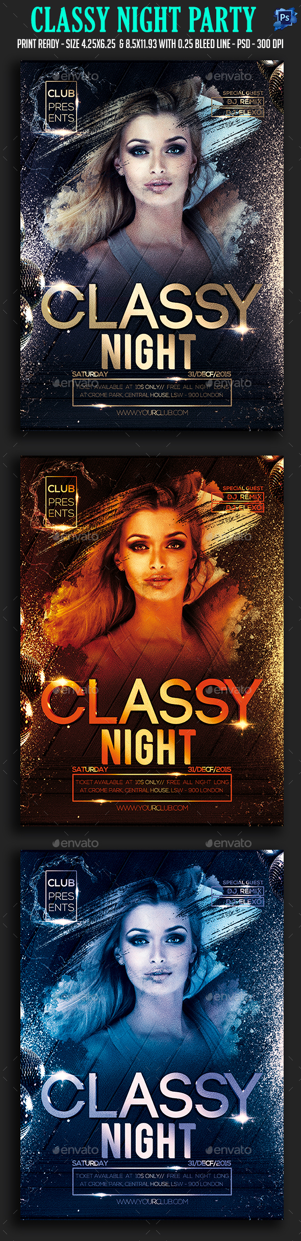Classy Night Party Flyer - Clubs & Parties Events