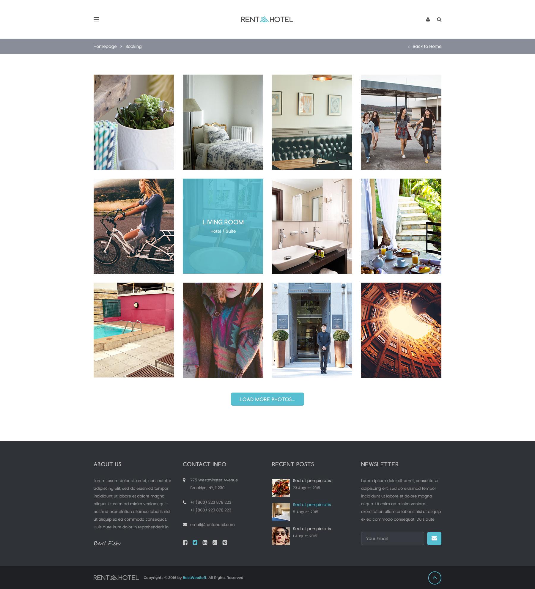 Hostel & Guest House Booking Website PSD