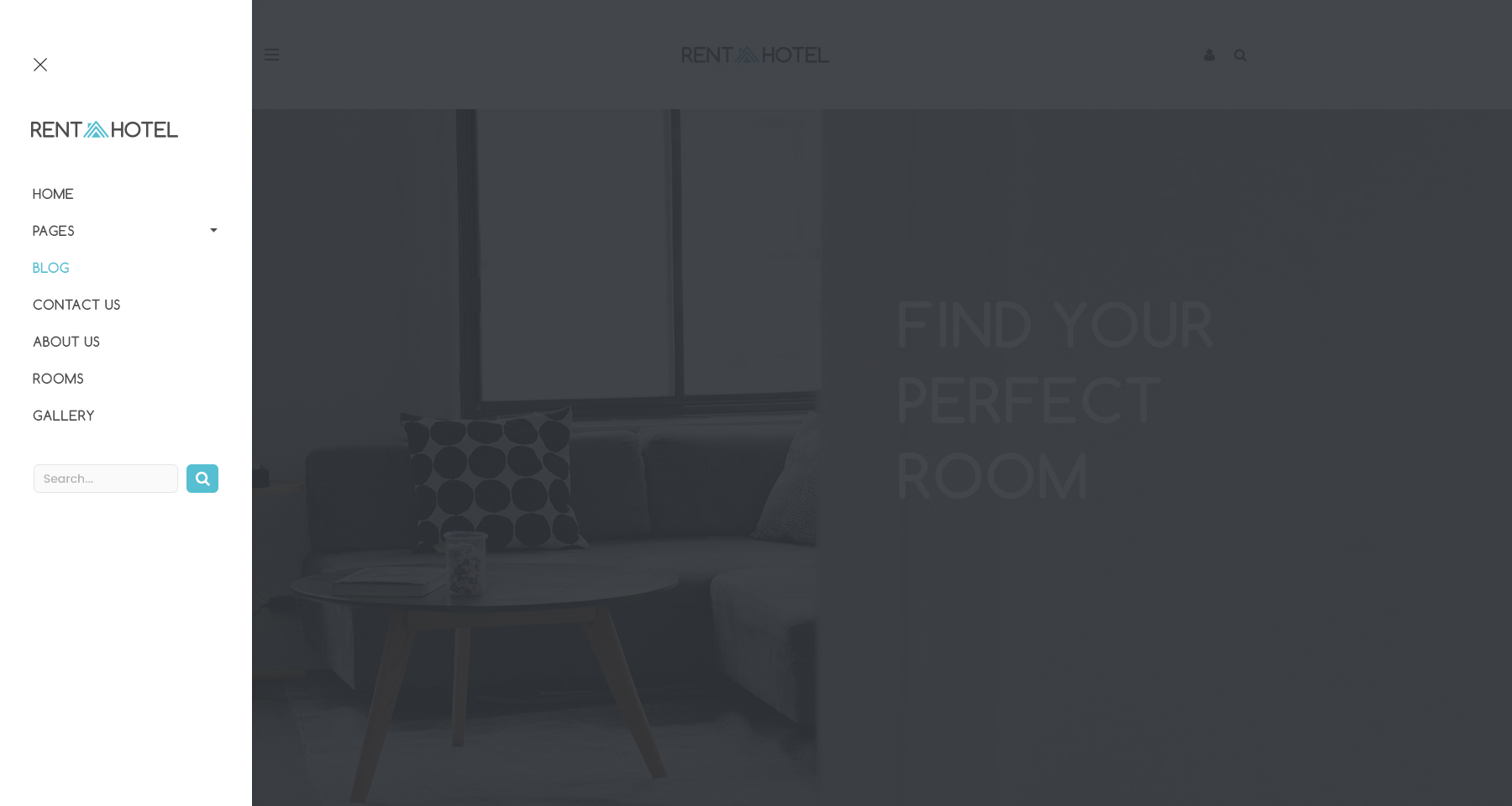 Rent a Hotel - Hostel & Guest House Booking Website PSD Template by ...