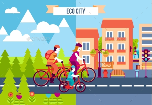 Eco City Decorative Icons - Nature Conceptual