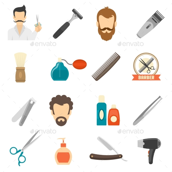 Barber Color Icons - Miscellaneous Icons
