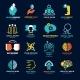 Set Of Social Relationship Logos