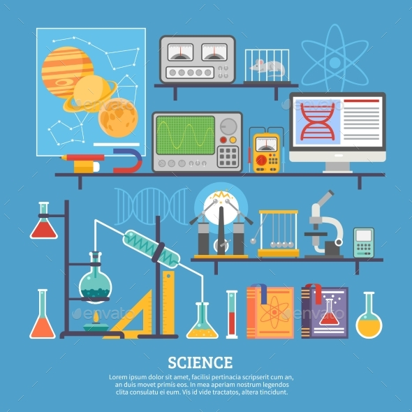 Science Research Laboratory Flat Banner  - Miscellaneous Conceptual