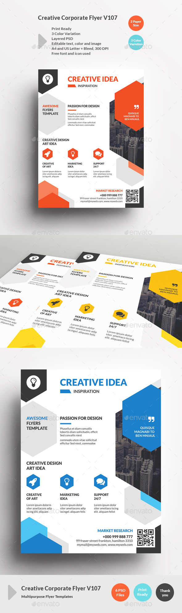 Creative Corporate Flyer V107 - Corporate Flyers