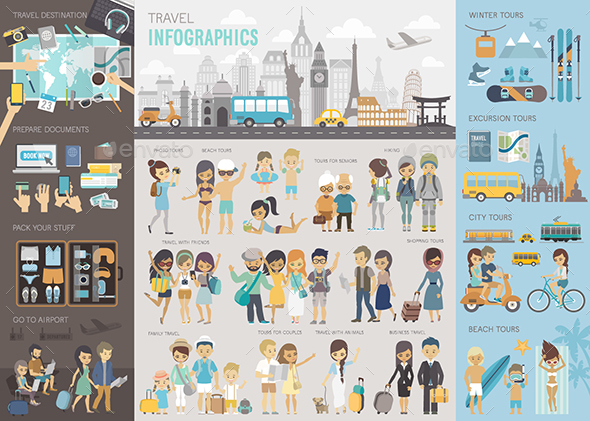 Travel Infographic - Travel Conceptual