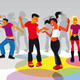 Teenagers Dancing  - GraphicRiver Item for Sale