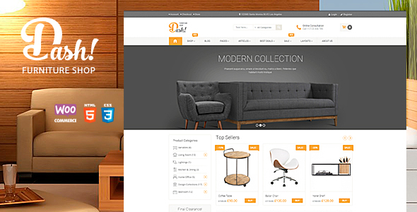 Dash – Handmade Furniture Marketplace Theme
