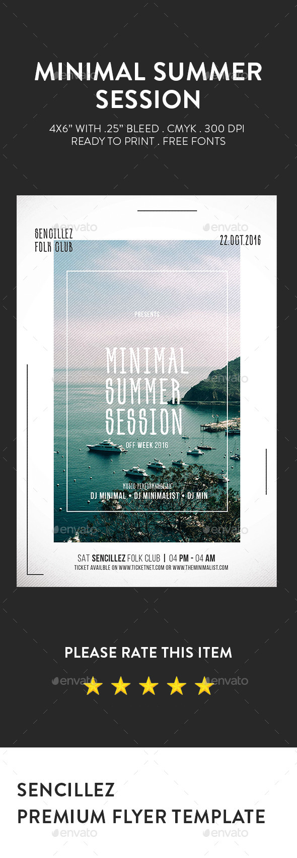 Minimal Summer Session Flyer - Clubs & Parties Events