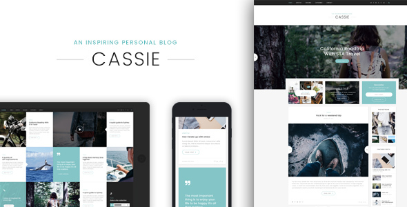 Cassie – An Inspiring Personal Blog WordPress Theme