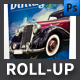 Vintage Cars Event Roll-up Template - GraphicRiver Item for Sale