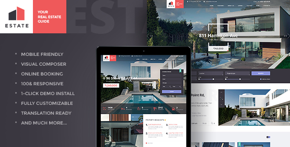 Estate - Property Sales & Rental Theme + RTL - Real Estate WordPress
