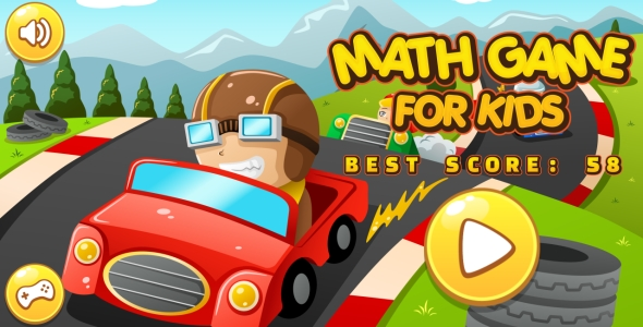 Math Game For Kids - HTML5 Game + Android + AdMob (Capx) - CodeCanyon Item for Sale