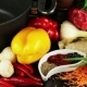 Still Life Of Ingredients For Pilaf On a Black Background - VideoHive Item for Sale