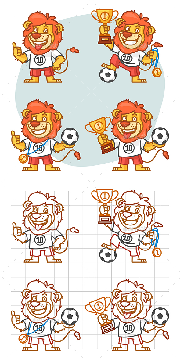 Lion Footballer Part 1 - Animals Characters