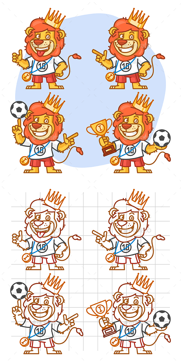 Lion Footballer Part 2 - Animals Characters