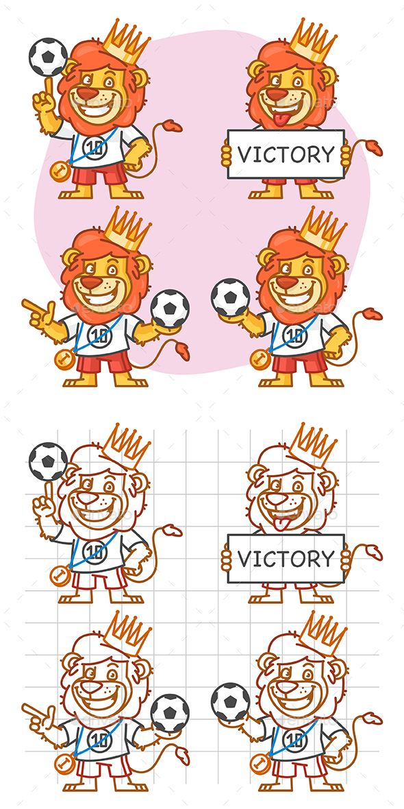 Lion Footballer Part 3 - Animals Characters
