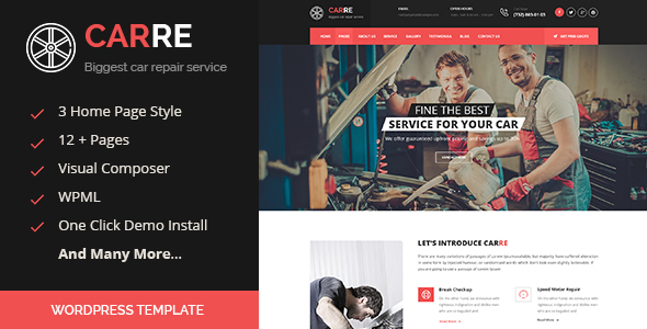 Car RE - Auto Mechanic & Car Repair WordPress Theme - Business Corporate