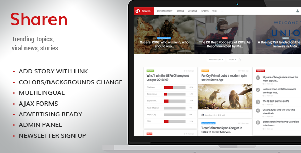 Sharen - Trending Topics, viral news, stories - CodeCanyon Item for Sale