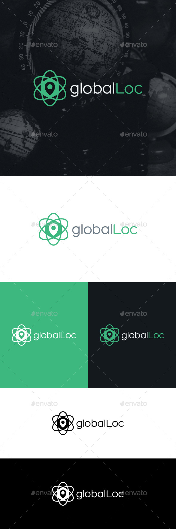 Global Location Logo Template - Symbols Logo Templates