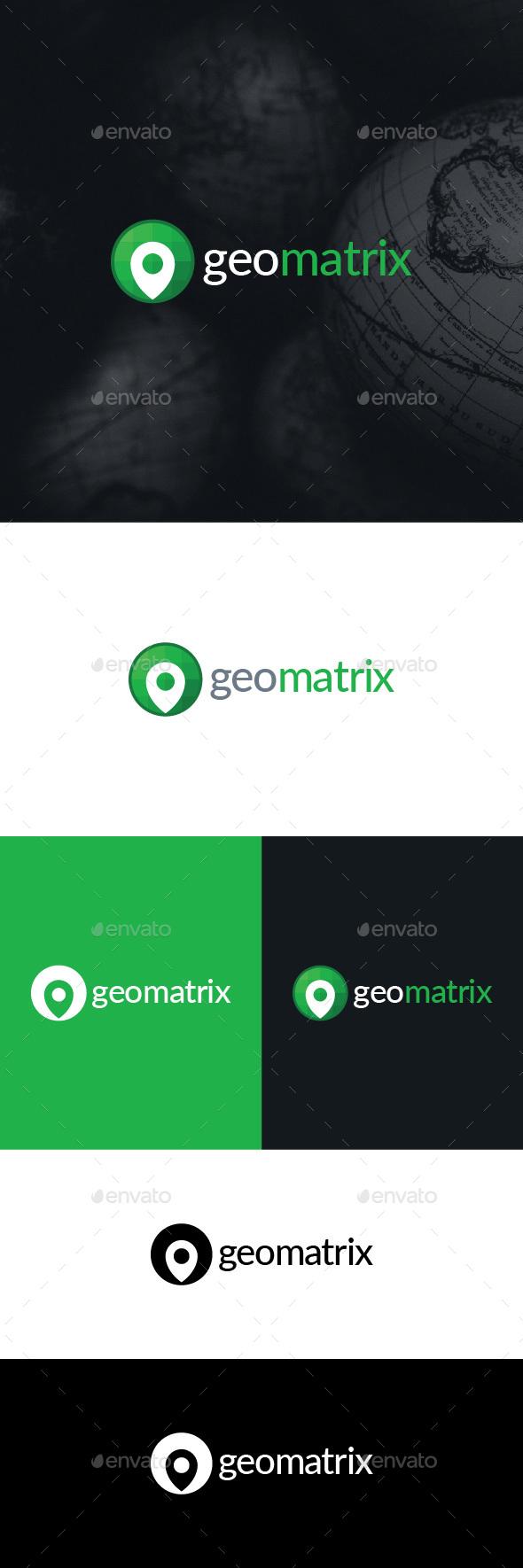Geo Matrix Logo Template - Symbols Logo Templates
