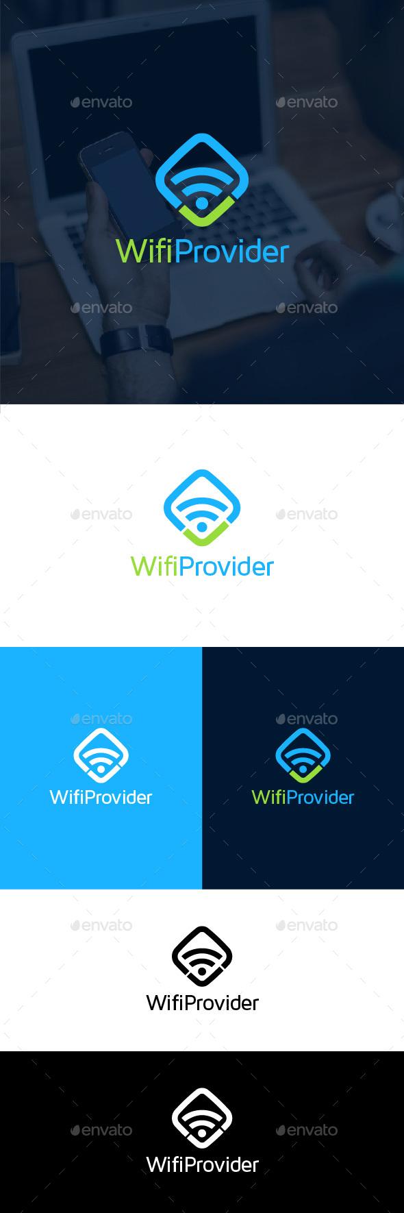 WiFi Provider Logo Template - Symbols Logo Templates