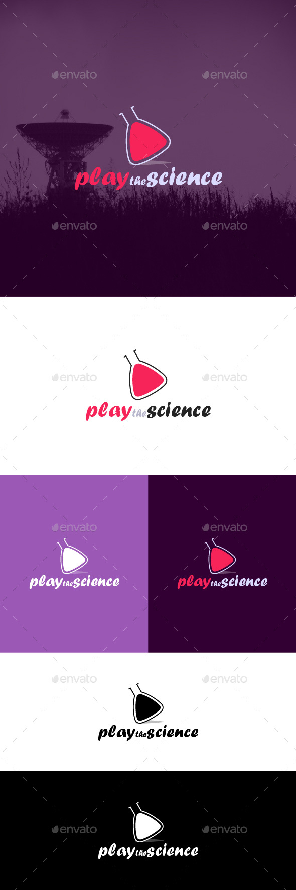 Play the Science Logo Template - Symbols Logo Templates