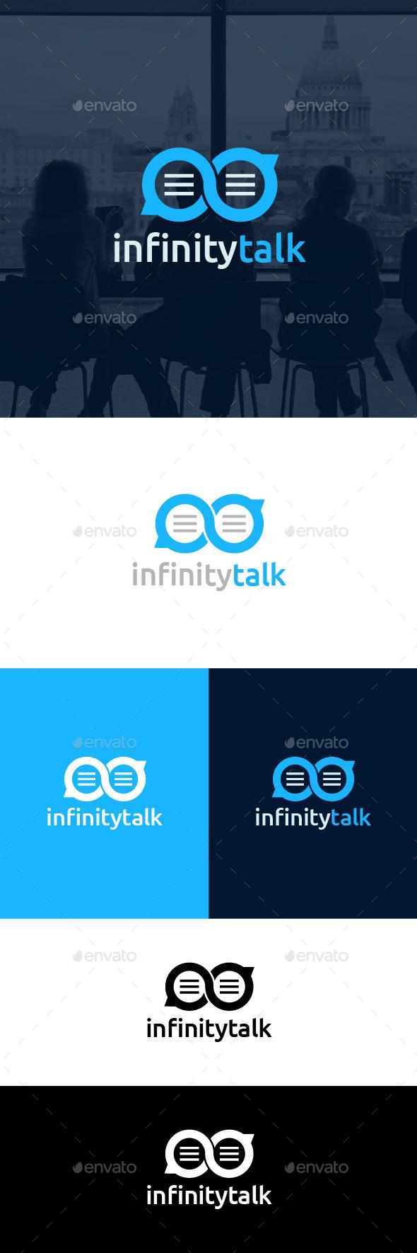 Infinity Talk Logo Template - Symbols Logo Templates