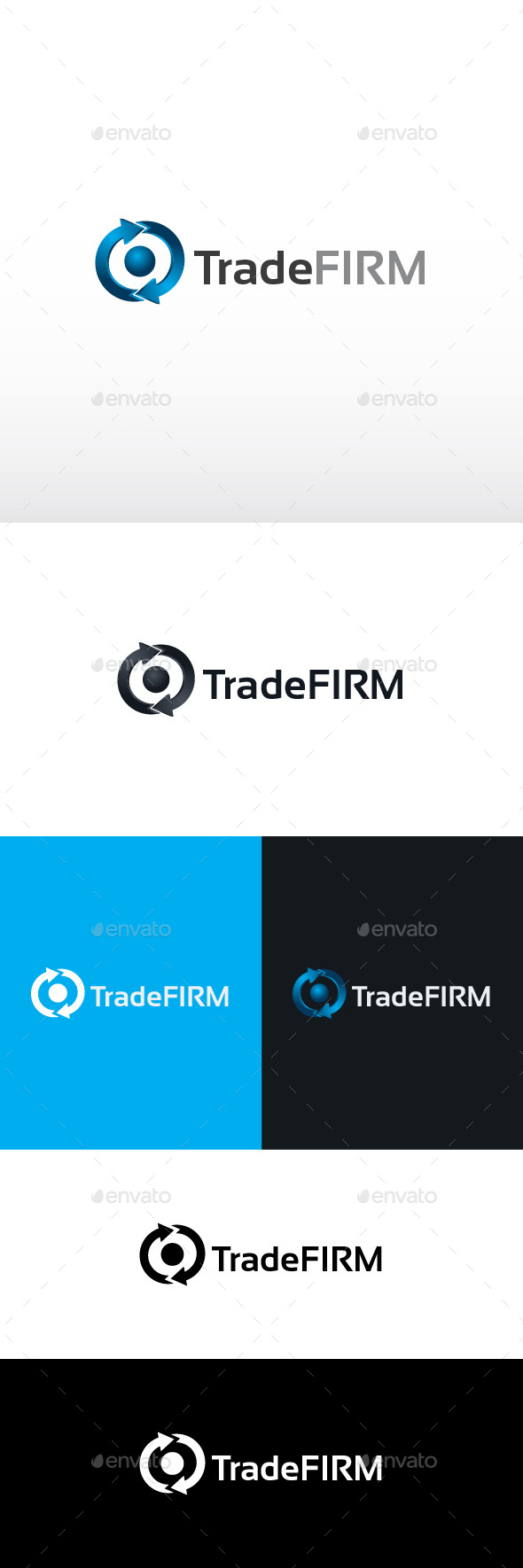 Trade Firm Logo Template - 3d Abstract