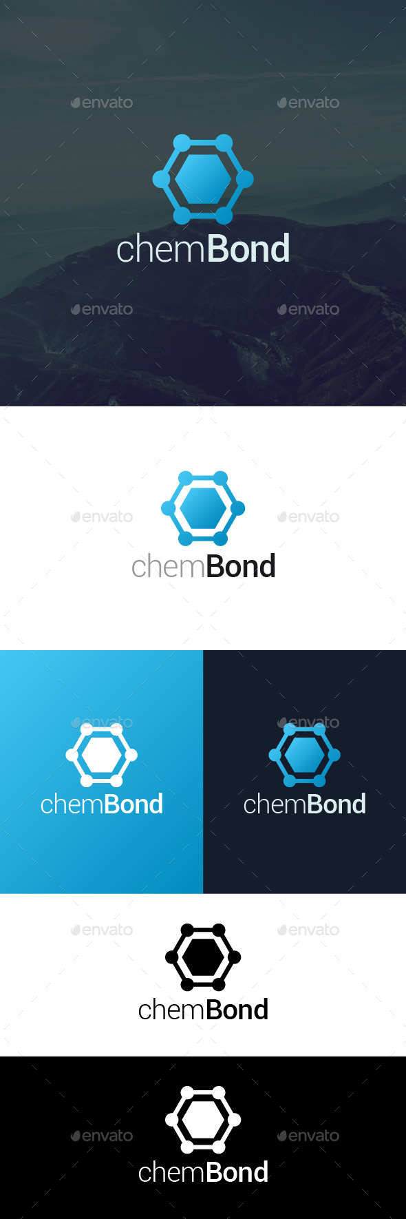 Hexagon Bond Logo - Symbols Logo Templates