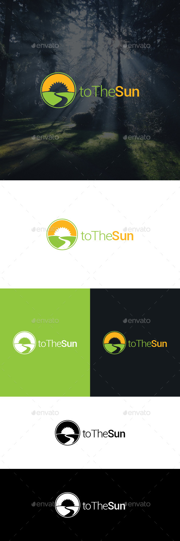 To The Sun Logo Template - Nature Logo Templates