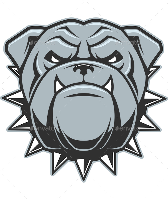 Head of a Fierce Bulldog - Animals Characters