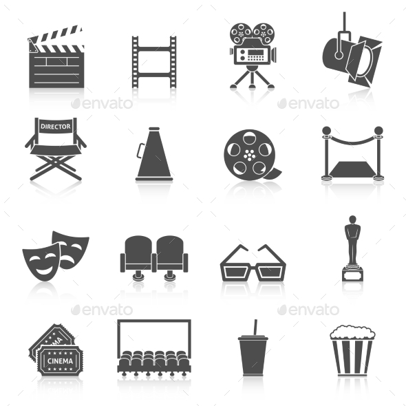 Cinema Icons Set - Media Icons