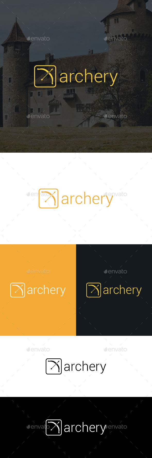 Archery Logo Template - Objects Logo Templates