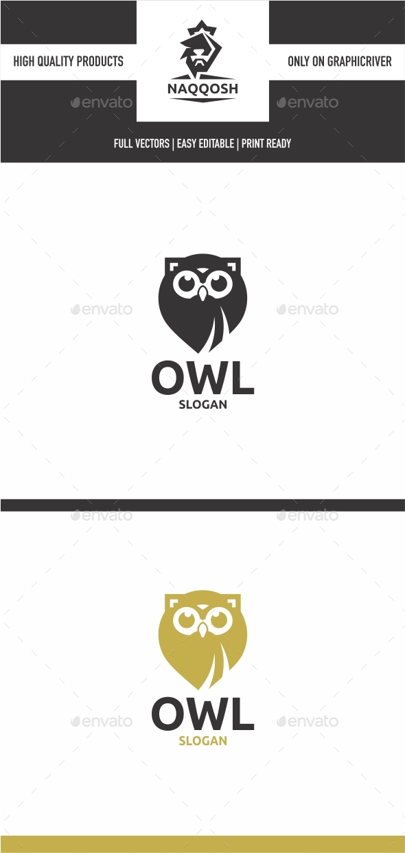 Owl - Animals Logo Templates