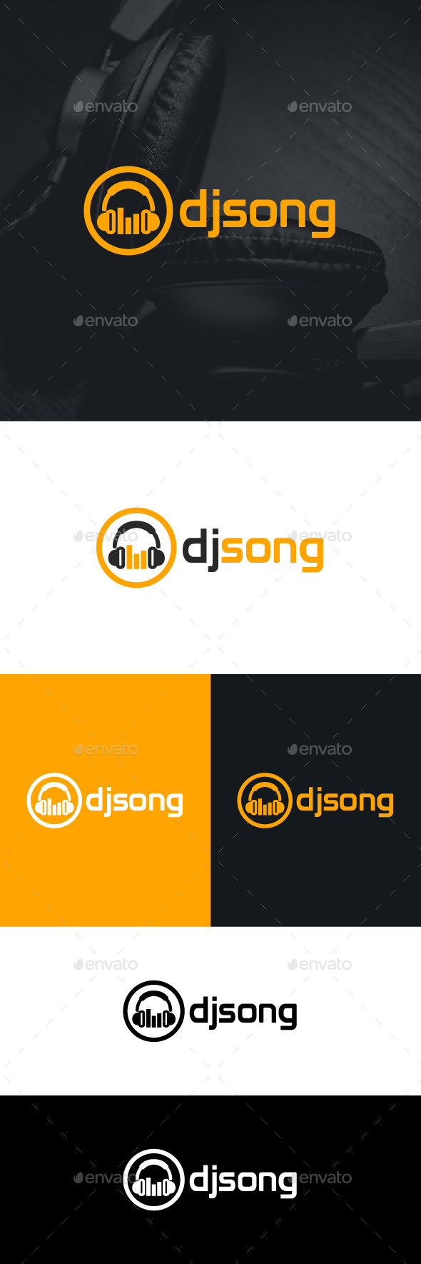 DJ Song Logo Template - Symbols Logo Templates