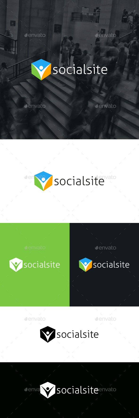 Social Site Logo Template - Humans Logo Templates