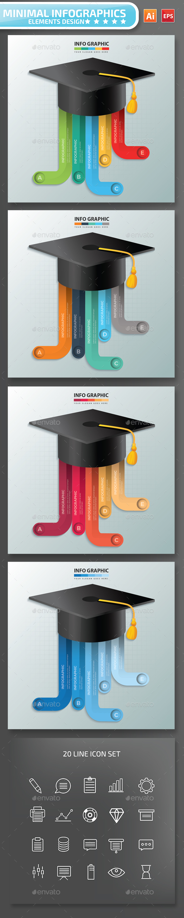 Minimal Education infographic Design - Infographics