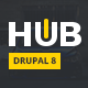 Hub - Creative Blog & Magazine Drupal 8 Theme Nulled