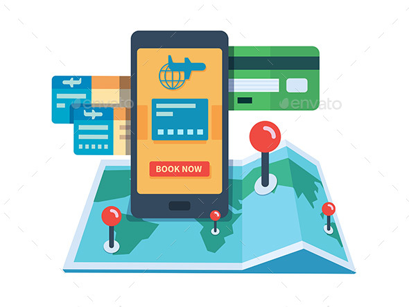 Booking Travel Online Concept - Miscellaneous Conceptual
