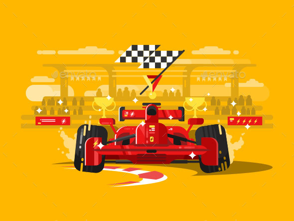 Sport Car Formula One - Miscellaneous Vectors