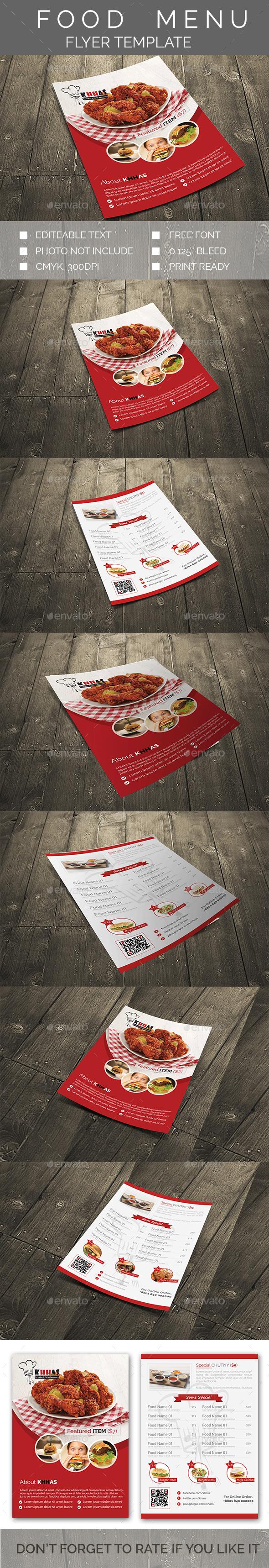 FOOD MENU FLYER TEMPLATE - Restaurant Flyers