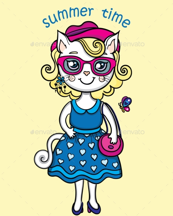 Lady-Cat in Summer - Animals Characters