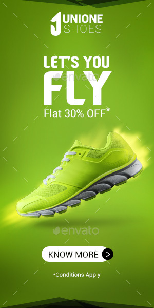 Sports Footwear Ad Banners By Dis Ziro Graphicriver