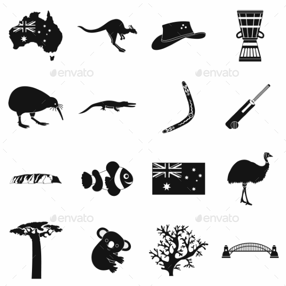 Australia Icons Simple - Miscellaneous Icons