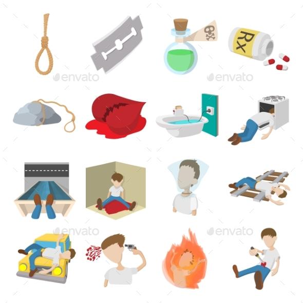 Suicide Icons Set - Miscellaneous Icons